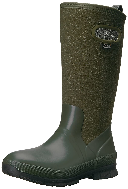 Bogs Women's Crandall Tall Snow Boot B01MTCD1OX 11 B(M) US|Dark Green/Multi
