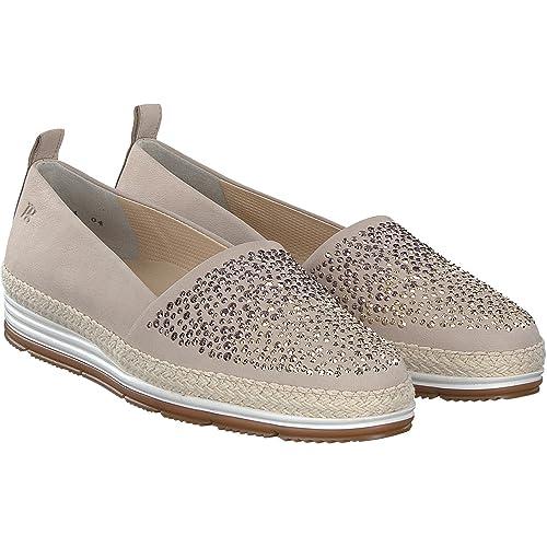 1975-019 - Mocasines de Ante para Mujer, Color Beige, Talla 42.5: Amazon.es: Zapatos y complementos