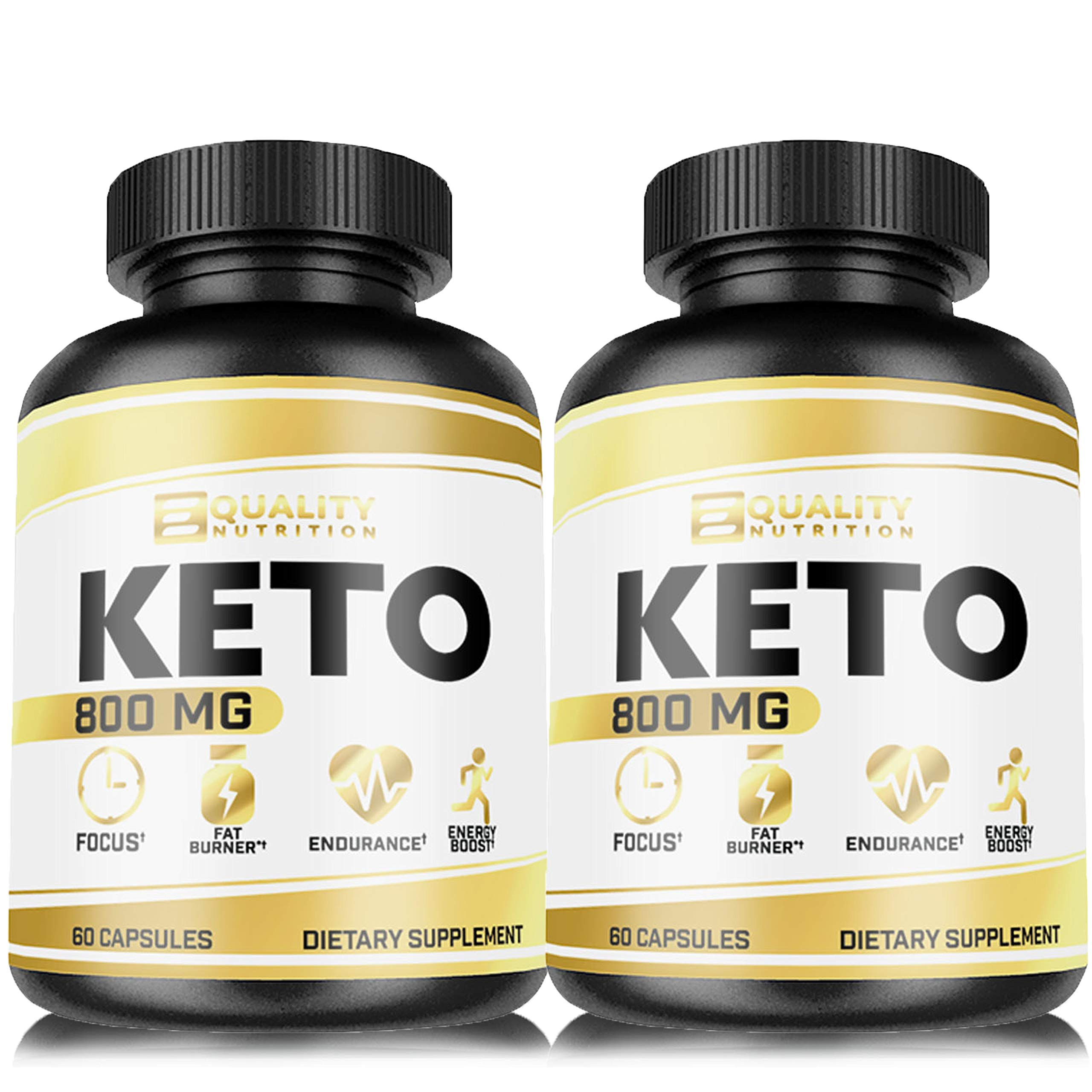 (2 Pack) Keto Diet Pills - Support Ketosis - Lose Unwanted Pounds - Weight Management Supplements for Men & Women - Appetite Suppressant - Ketogenic BHB Formula - Keto Burn 800 mg