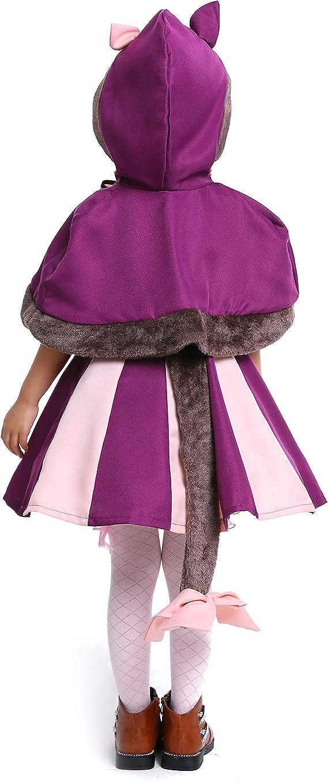 LOLANTA Disfraz de Gato Cheshire para niñas Wonderland Grinning ...