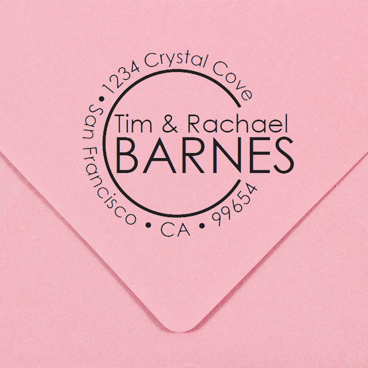 Personal Self Inking Address Stamp and Monogram - Style 219