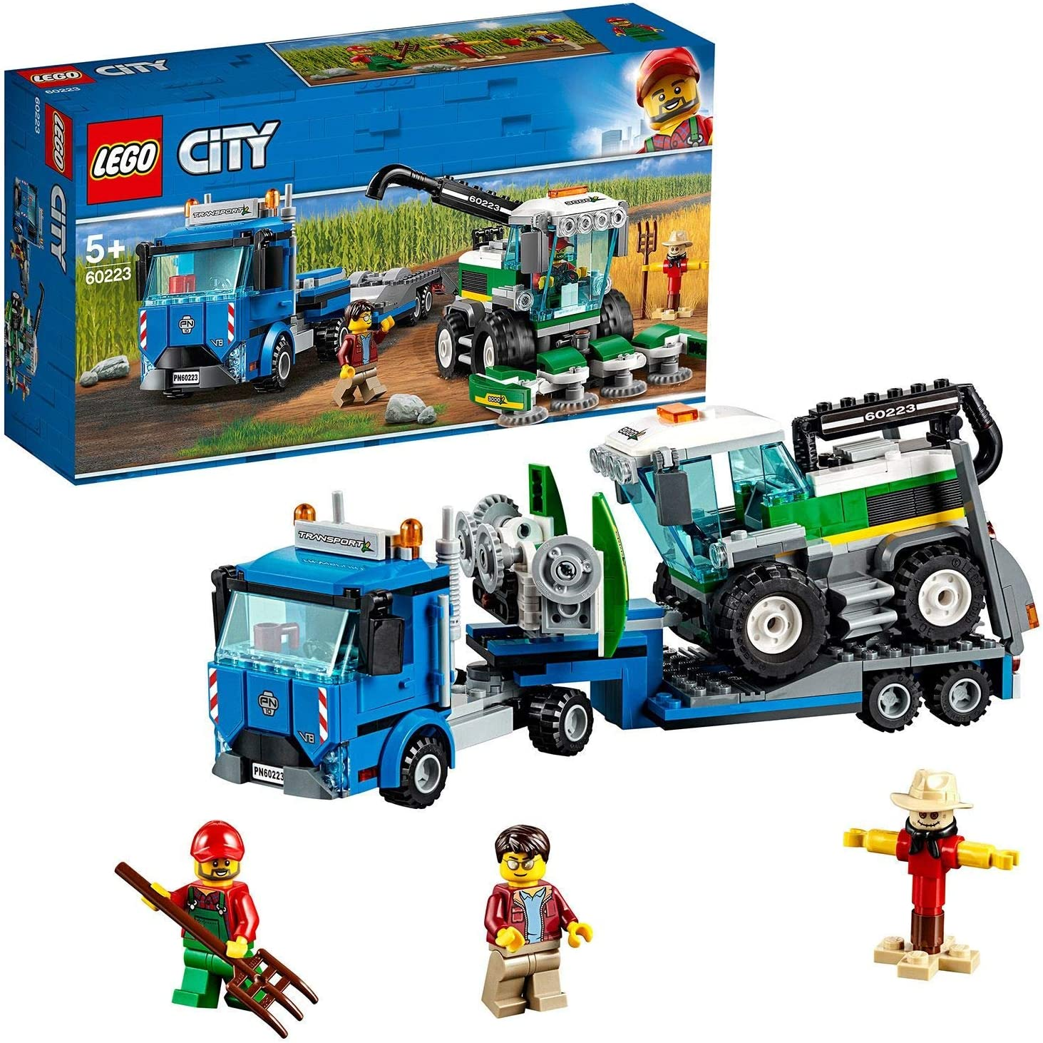 Amazon Com Lego City Great Vehicles Harvester Transport Construction Set Toy Truck Minifigures Farm Toys For Kids Toys Games