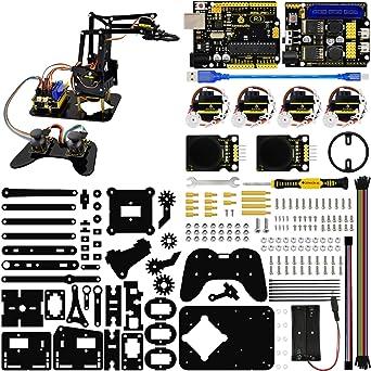 Amazon com: KEYESTUDIO 4DOF Robot Arm Kit for Arduino Project