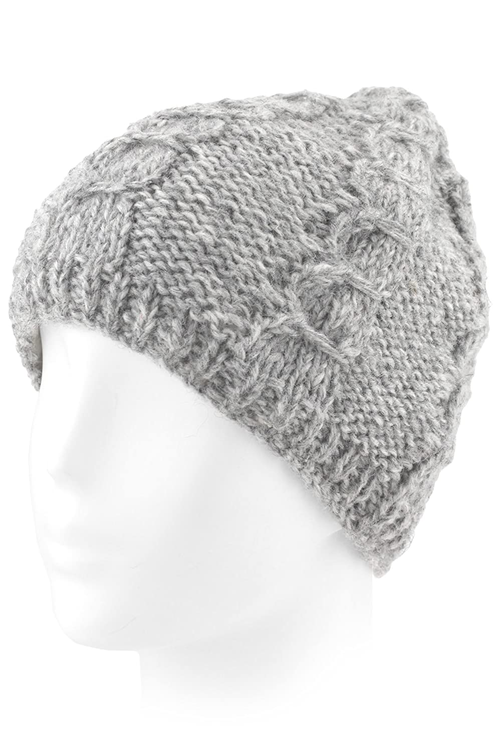 Evolatree Knit Wool Beanie Toque With Fleece Lining - Light Gray at Amazon  Men s Clothing store  a4857f71d0d