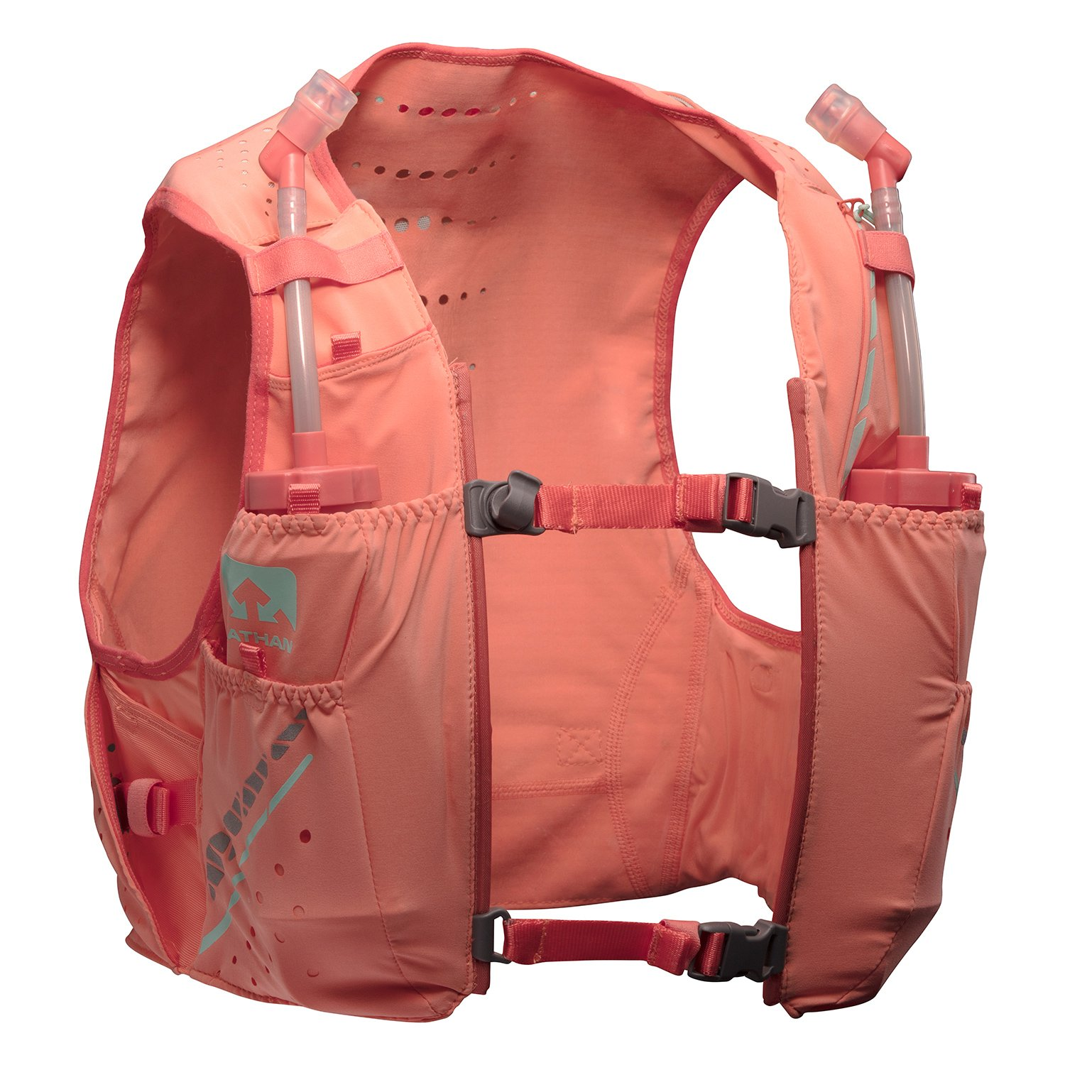 Nathan NS4537 Vaporhowe Hydaration Pack Running Vest with 1.5L Bladder, Fusion Coral, XX-Small