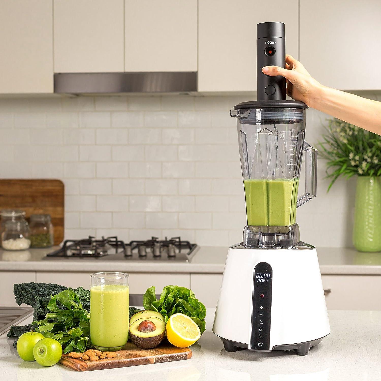 Batidora al vacío BioChef Living Food - Batidora de Vaso Profesional 2L con Accesorio de vacío | 1680 W, 32.000 RPM | Cuchillas Acero Inoxidable | BPA Free ...