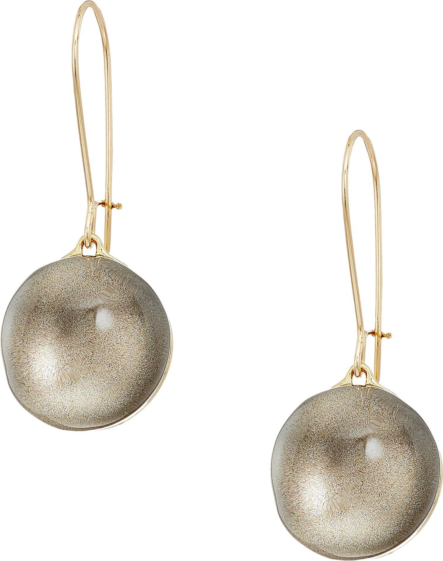 Alexis Bittar Girl's Dangling Sphere Kidney Wire Earrings Warm Grey Clear One Size
