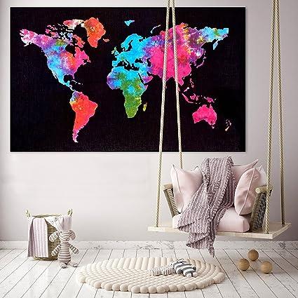 Sk enterprise home decor throw world map wall hanging poster cotton sk enterprise home decor throw world map wall hanging poster cotton 30x40 home decor gumiabroncs Images