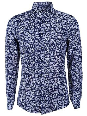 low priced cd8a0 8c1a3 Joop! Hemd Hanjo-W für Herren in Blau, S: Amazon.de: Bekleidung