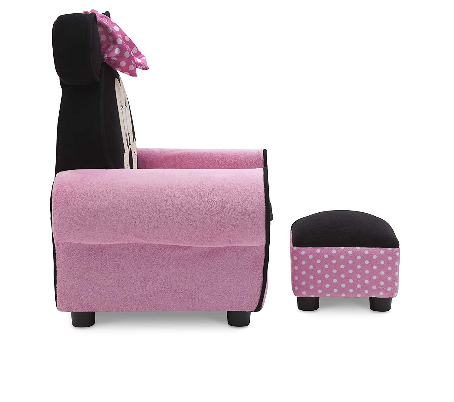 Amazon.com: Delta Children Figural Upholstered Chair With Ottoman, Disney  Minnie Mouse: Baby