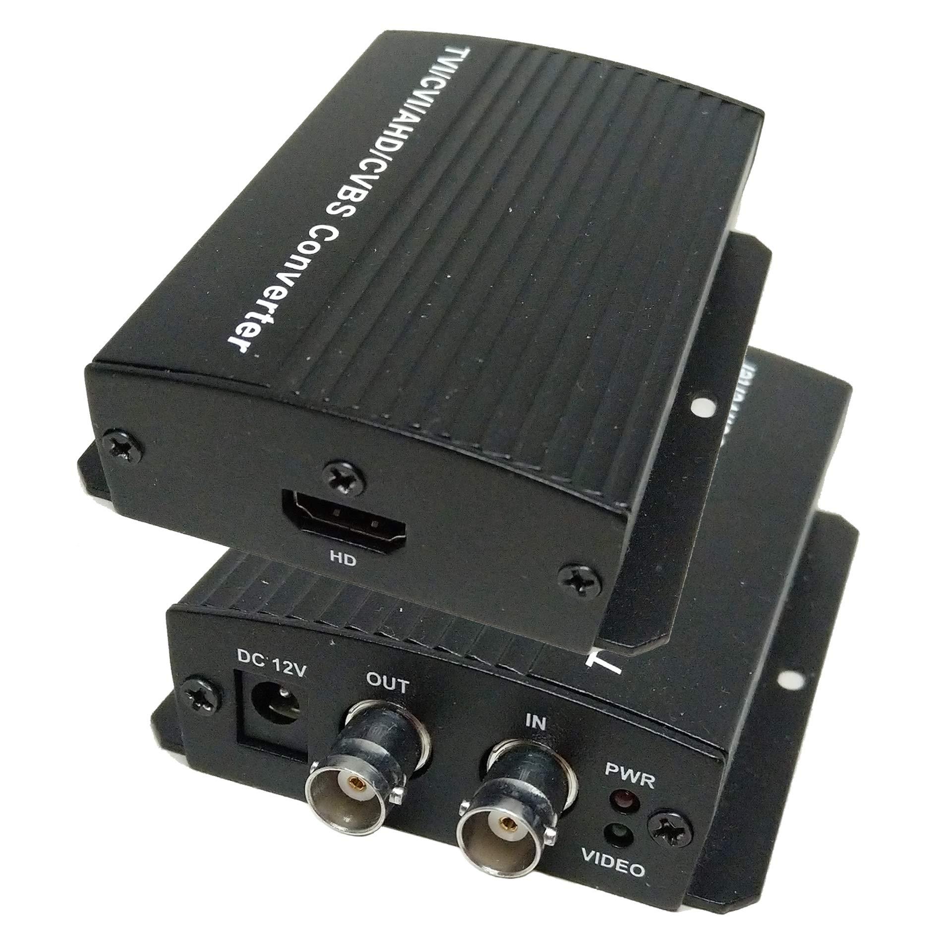 101AV TVI/AHD/CVI/CVBS BNC to HDMI Converter Adapter (Monitor, DVRs converts 1080P/720P HD from BNC Video Signal to HDMI)