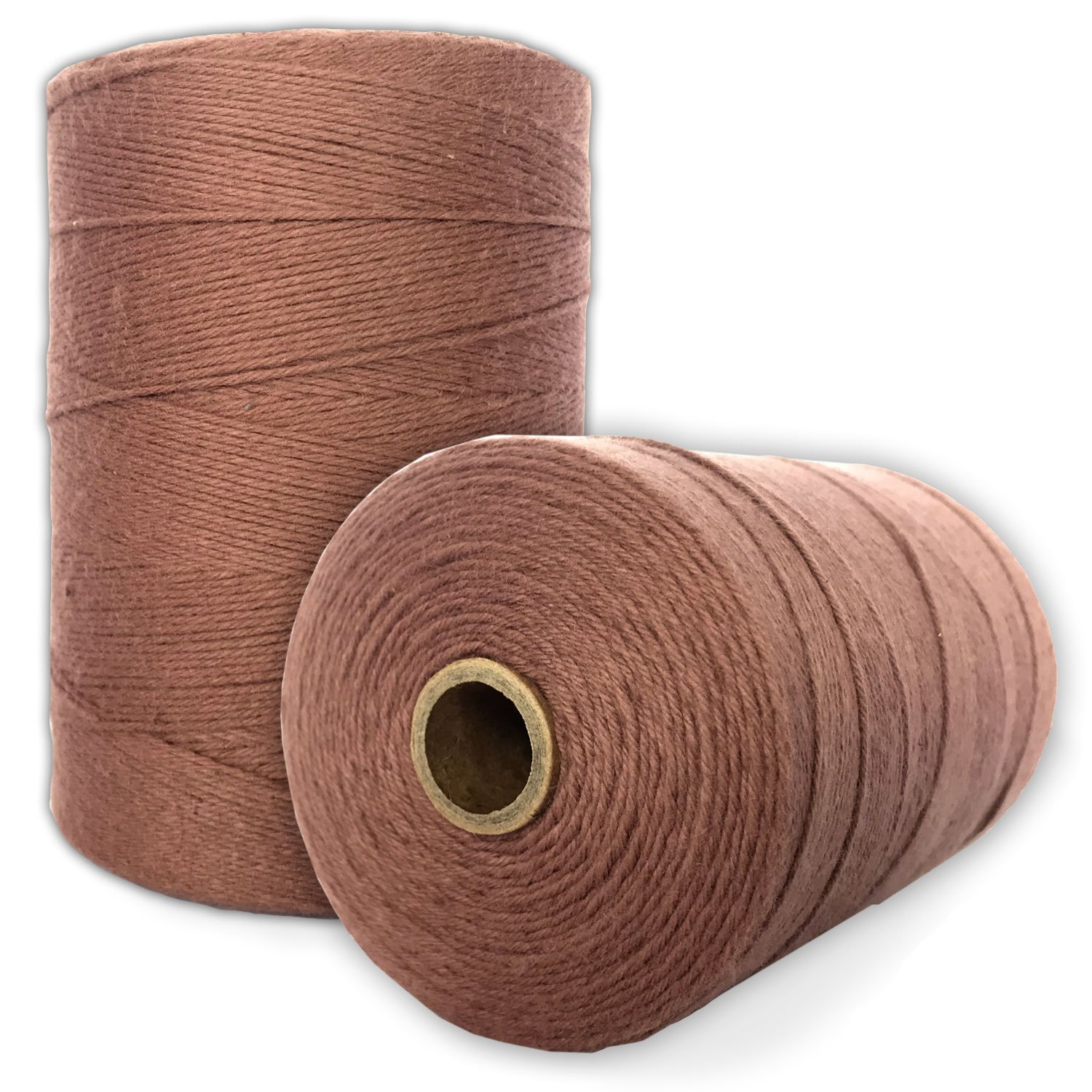 Durable Loom Warp Thread (Natural/off white), 8/4 Warp Yarn (800 YARDS), Perfect for weaving: carpet, tapestry, rug, blanket or pattern - Warping thread for ANY LOOM Paper Farm 4336926477