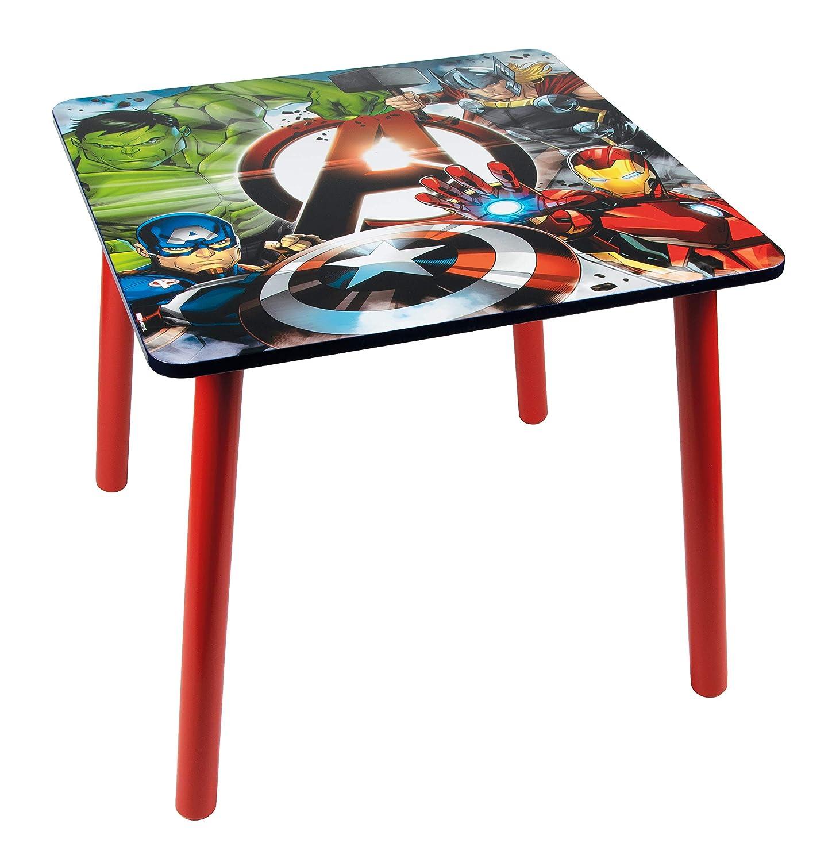 Marvel Avengers 48573-s Set da Tavolo 2/sedie Rosso//Blu//Grigio Taglia Unica MDF