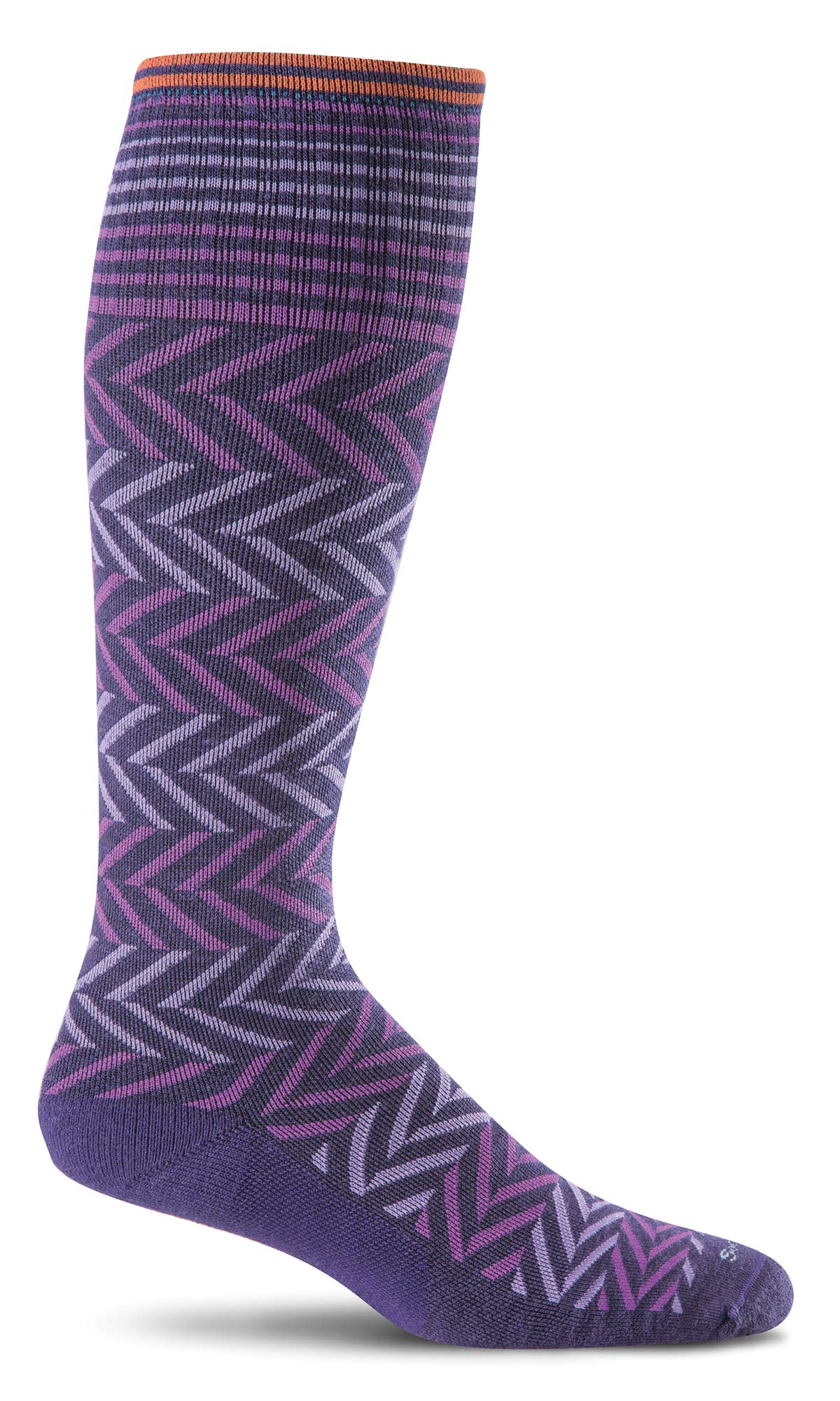 Sockwell Women's Chevron Graduated Compression Socks, Concorde, Medium/Large by Sockwell