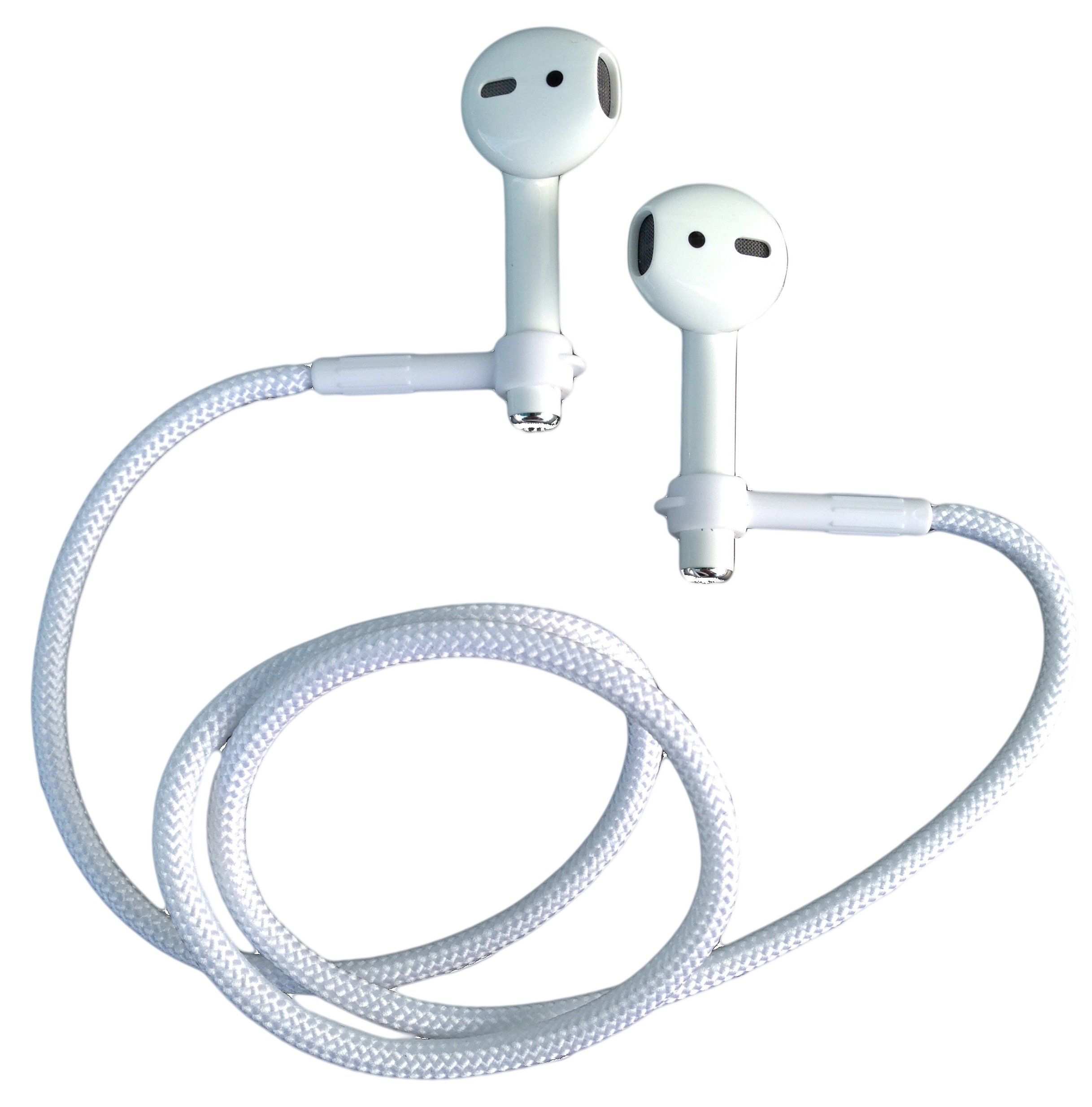 Auriculares EARBUDi Cord - Compatible con Apple AirPods | Soft 22 Tether Securely Holds Inalambrico Buds Around Your Nec
