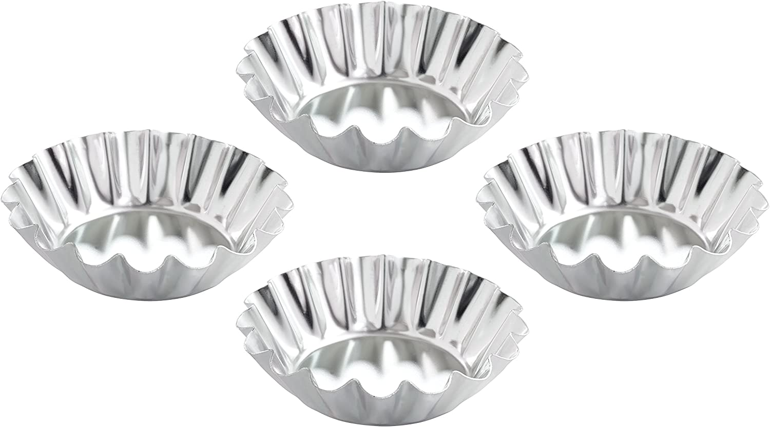 Set of 4 Mrs Fluted Domed Anderson/'s Baking 22009 Tartlet Molds