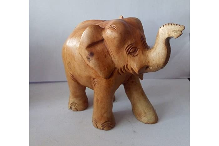 Amazon Real Natural Wood Style Lucky Elephant Trunk Up100