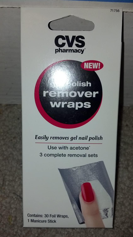 Amazon.com : CVS Gel Polish Remover Wraps : Nail Polish Removers ...