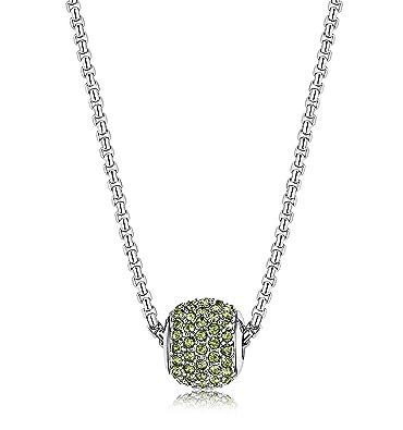 Amazon.com: LOYALLOOK collar con dije redondo con cuentas de ...