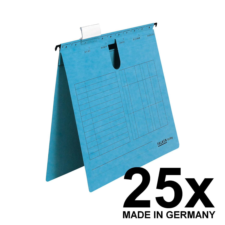 Falken Das Original 25er Pack H/ängemappe UniReg aus Recycling-Karton f/ür DIN A4 seitlich offen braun Blauer Engel ideal f/ür die lose Blatt-Ablage im B/üro und der Beh/örde Made in Germany