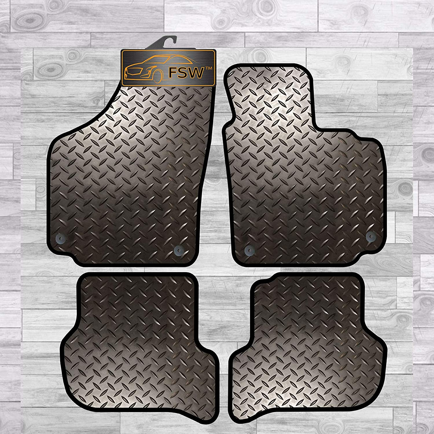 FSW 107 Fully Tailored Classic Carpet Car Floor Mats Black