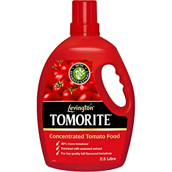 Levington Tomorite Liquid Tomato Fertiliser Bottle, 2.5 L: Amazon.co ...