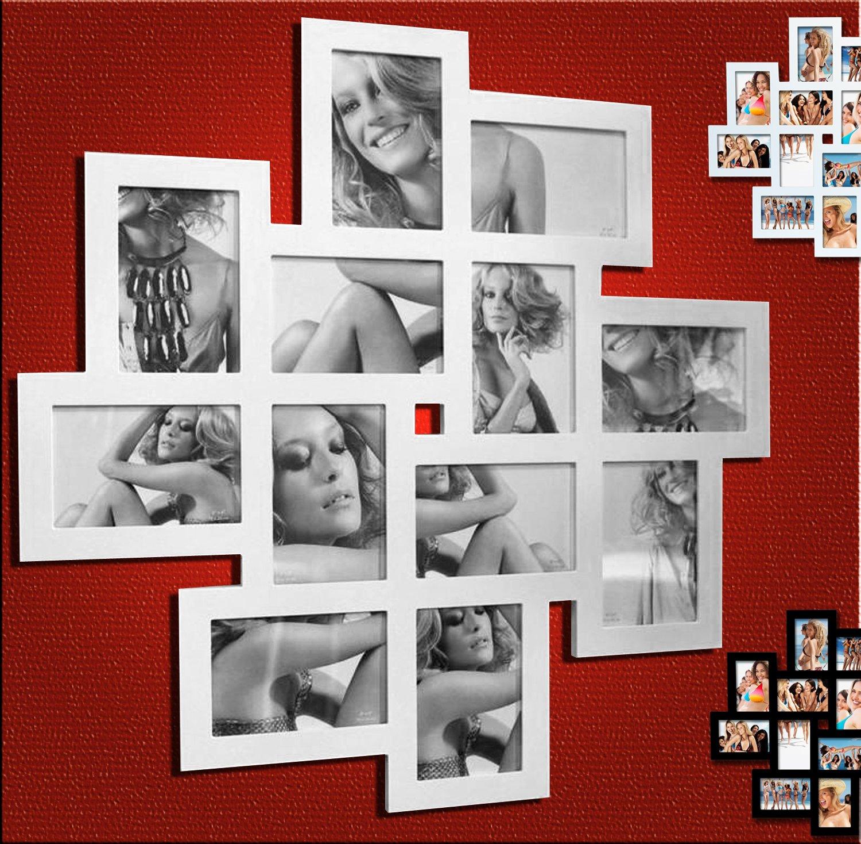 Amazon.de: EUGAD 12 Fotos Collage Bilderrahmen #13, Holz Rahmen, für ...