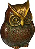 Indian Antique Brass Handmade Figurine Home Décor Owl Statue