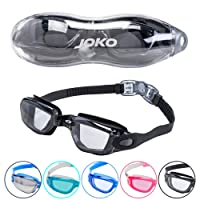 JOKO Swimming Goggles with Anti-Fog Layer & UV Protection. Comfortable, Watertight PC Lenses with 180° Clear Vision. Quick Adjust Strap System. Suitable For Adults, Men, Women & Teenagers.