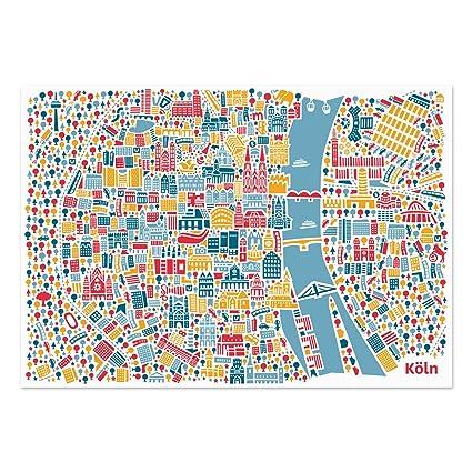 Vianina - Póster de mapa de Colonia (100 x 70 cm)