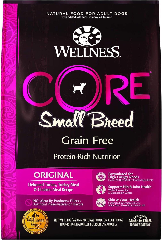 10. Wellness CORE Grain-Free Small Breed Turkey & Chicken Recipe Dry Dog Food