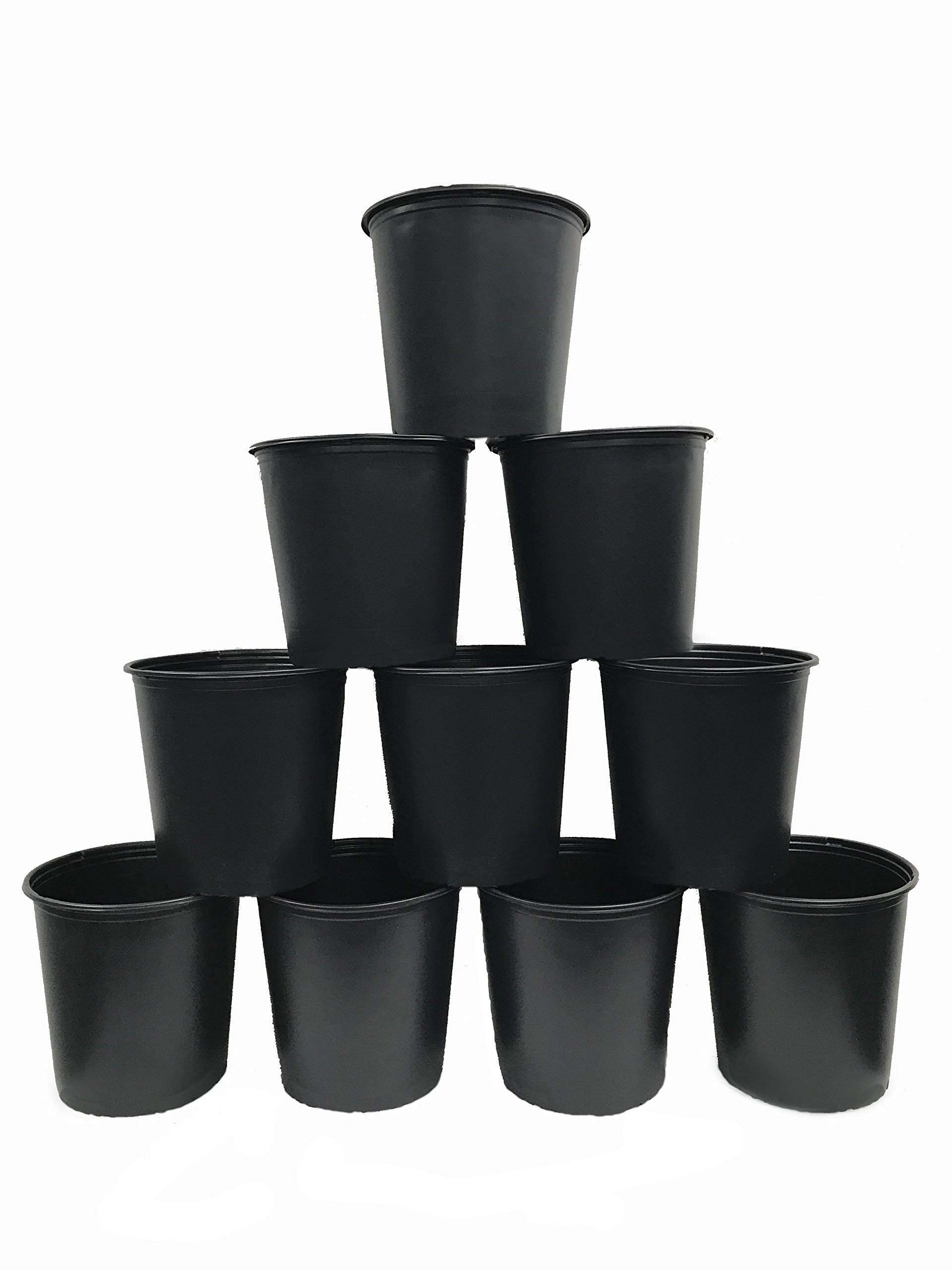 Viagrow VHPP500-10 5 gallon Round Nursery Pot, 10 Pack