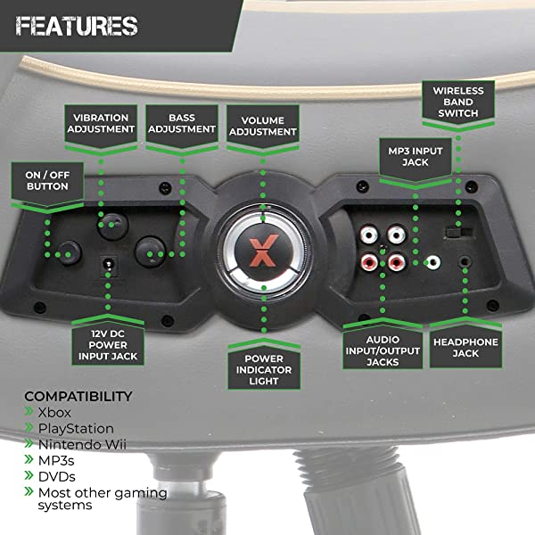 X Rocker Trident Pedestal 4.1 Wireless