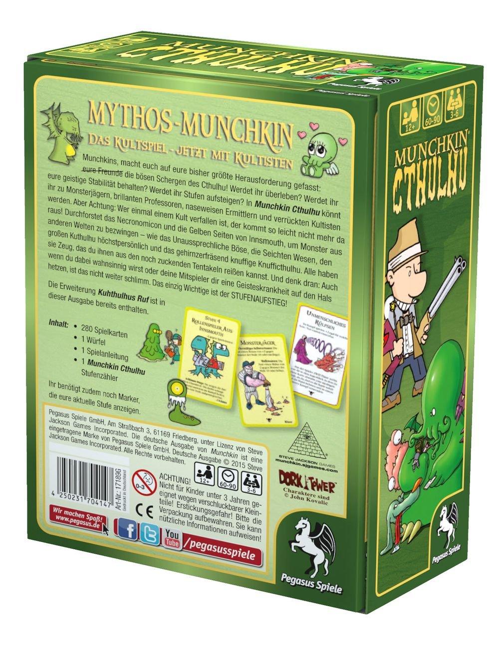 Amazon.com: Munchkin Cthulhu 1+2 by Pegasus Spiele: Sports & Outdoors
