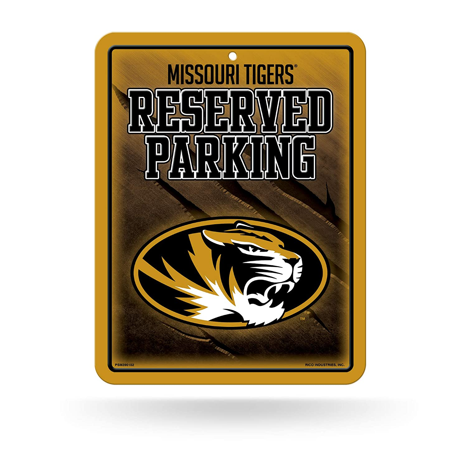 NCAA Missouri Tigers 8-Inch by 11-Inch Metal Parking Sign D/écor