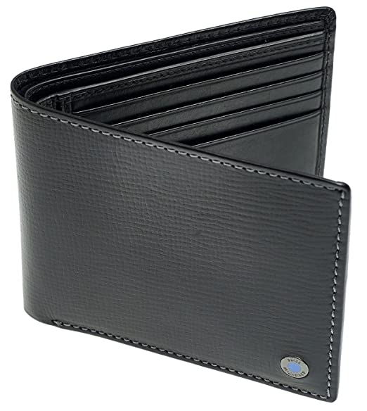 961119851d7b Image Unavailable. Image not available for. Color: SWISS REIMAGINED Genuine  Leather Mens Slim RFID Credit Card Holder Billfold Wallet Gift Box ...