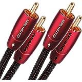 AudioQuest 1m Golden Gate RCA - cables de audio (1m, 2 x RCA, 2 x RCA) Negro