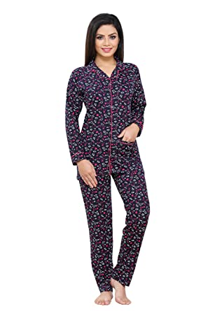 90b06f611d Boring Dress Hosiery (Cotton Knitted) Women s Shirt and Pajama Set ...