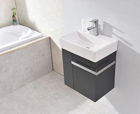 Amazon.de: Badmöbel-Set Compact 500 für Gäste-WC - Anthrazit matt ...