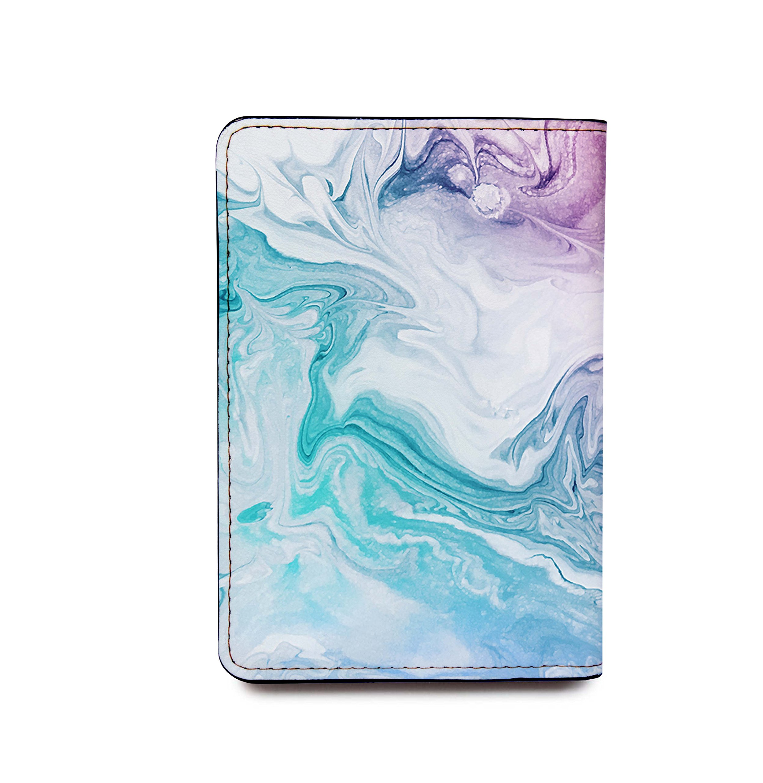 Personalized RFID Blocking Leather Passport Holder - Marble Passport Cover by With Love From Julie (Image #4)