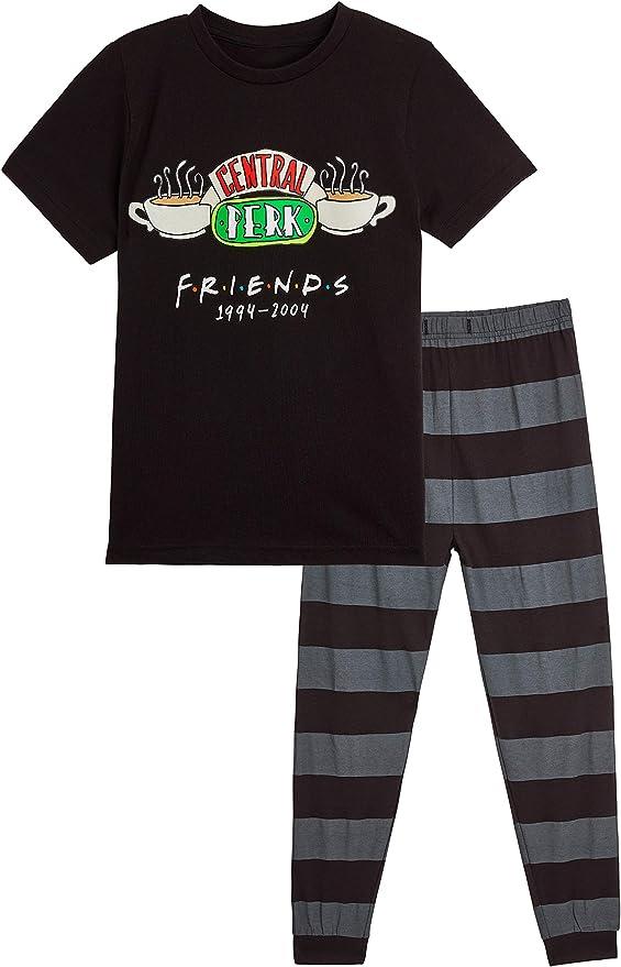 FRIENDS Pijama Niño y Niña, Ropa Niño 100% Algodon, Conjunto de Dos Piezas Camiseta Manga Corta y Pantalon Largo, Regalos para Niños y Niñas 7-14 Años