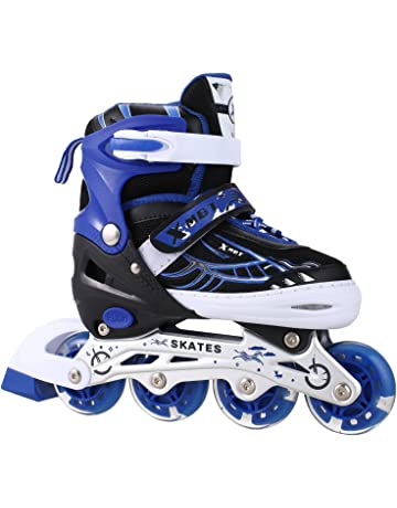 OUTCAMER Adjustable Inline Skates with Light Up Wheels Beginner Roller Fun  Flashing Illuminating Roller Skates for 75d7d1c76cf
