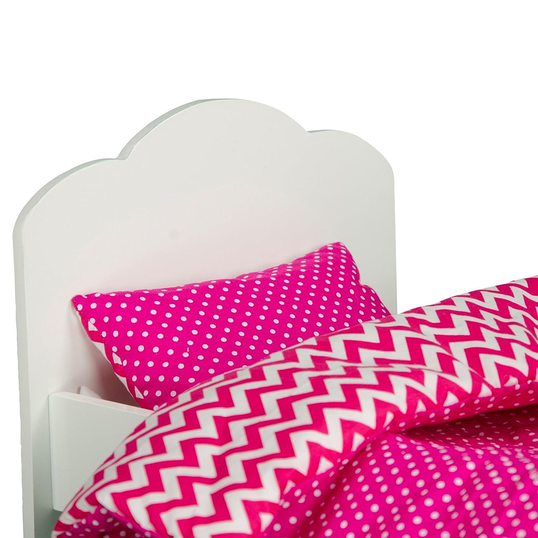 Zebra Prints Teamson Design TD-11929-1B Olivias Little World Little Princess 18 Doll Single Bed /& Bedding Set