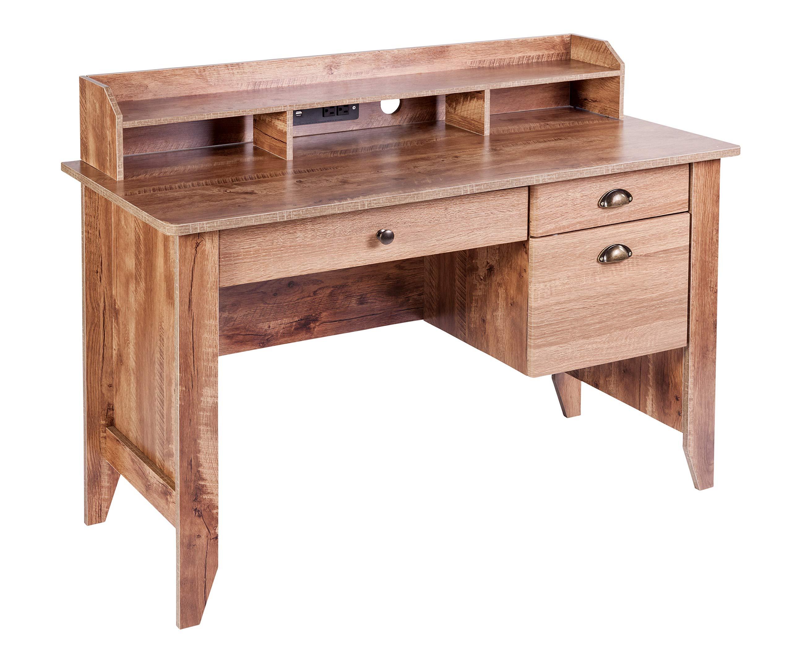OneSpace 50-1617CO Eleanor Executive Desk Classic Oak