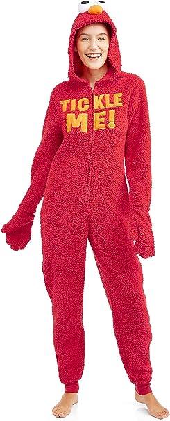 Sesame Street Women S Licensed Sleepwear Adult Costume Union Suit Pajama