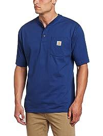 Carhartt Men's Workwear Pocket Short Sleeve Henley Original Fit Shirt K84