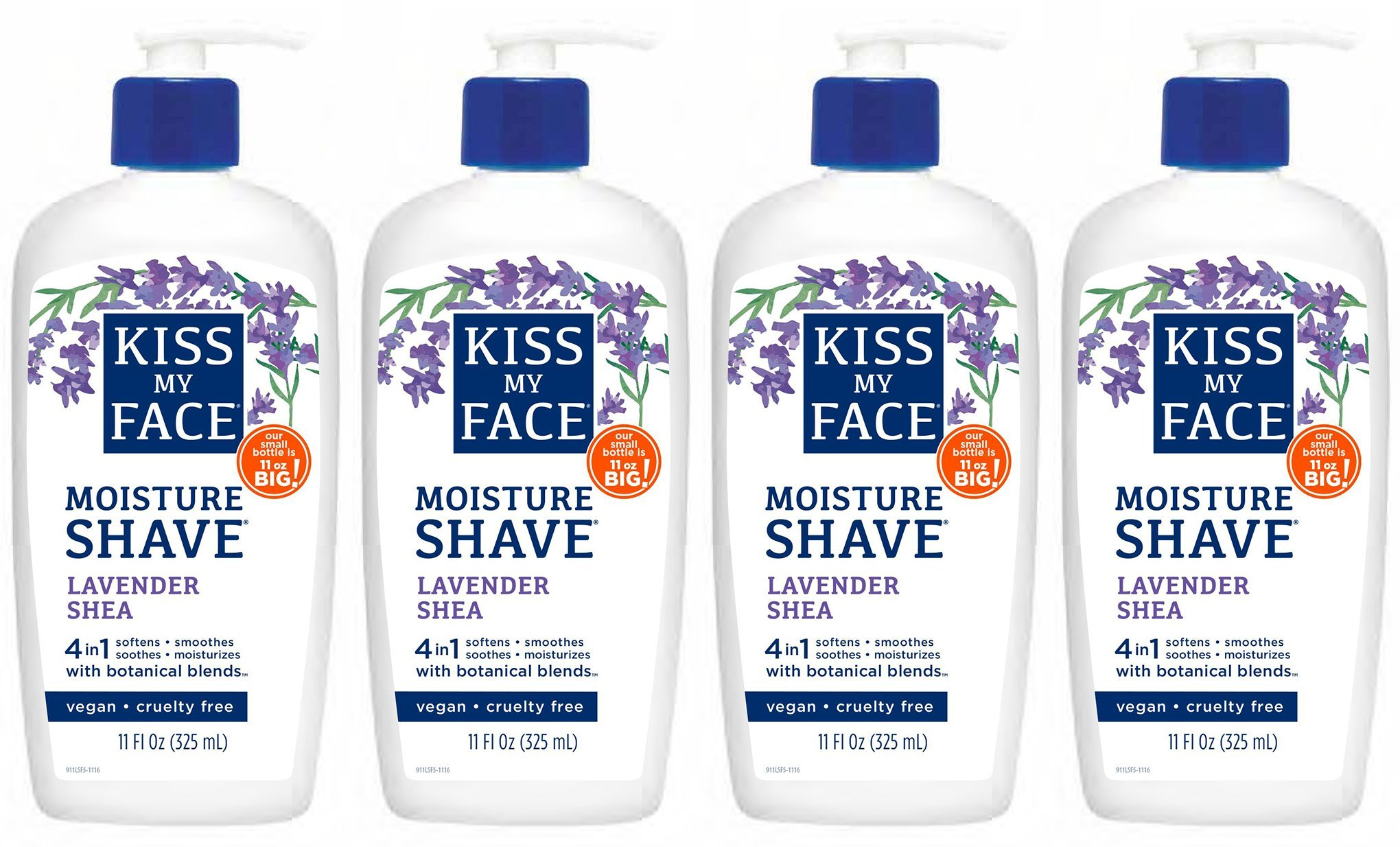 Kiss My Face Lavender & Shea Butter Moisture Shave, 11-Ounce Pumps by Kiss My Face