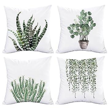 Amazon.com: Funda de almohada de terciopelo y algodón con ...