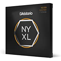 """D€™Addario NYXL1059 Nickel Plated Electric Guitar Strings, Regular Light,7-String,10-59 €"""" High Carbon Steel Alloy for Unprecedented Strength €"""" Ideal Combination of Playability and Electric Tone"""
