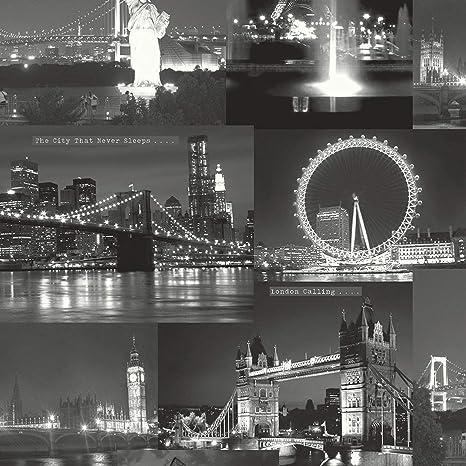 Blackwhite 97670 City By Night London New York
